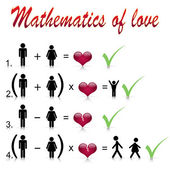 Mathematics of love — Stock Vector