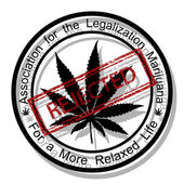 Reject marijuana — Stock Vector