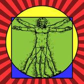 The Vitruvian man — Stock Vector
