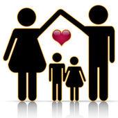 Family home — Stock Vector