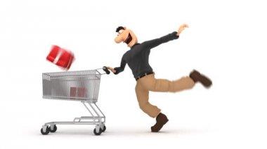Man Shopping — Stock Video