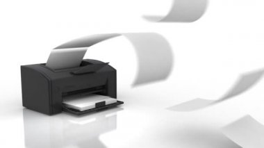 Printer in action — Stock Video