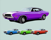 Hot american muscle car — Stockvektor