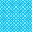 Blue background fabric with white cross circles seamless pattern — Vector de stock