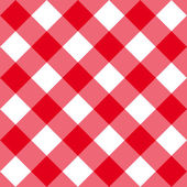 Table diagonal cloth seamless pattern red big size — Cтоковый вектор
