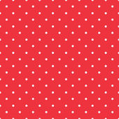 Red background polka fabric with white little dots seamless patt — Cтоковый вектор