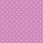 Pink background polka fabric with white little dots seamless pat — Cтоковый вектор