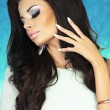 Стоковое фото: Photo of attractive brunette beauty