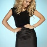 Fashionable blonde lady posing — Foto Stock