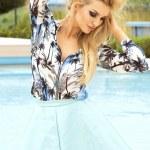 Attractive blonde woman posing — Stockfoto #46890175