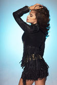 Mulher bonita na moda — Fotografia Stock