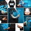 Business technology idea concept creative communication virtual — Stockfoto