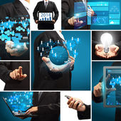 Business technology idea concept creative communication virtual — Stock Photo