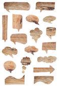 Bolle di discorso legno — Foto Stock