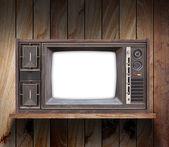 Televisione su mensola — Foto Stock
