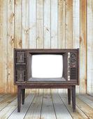 Телевидение в комнате — Стоковое фото