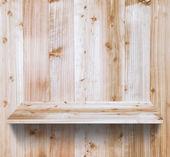 Dřevěné police — Stock fotografie