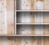 Wood shelves — Stock Photo