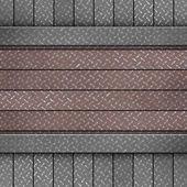 Metal diamond plate — Stock Photo