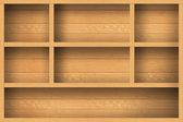 空の木製の棚 — ストック写真
