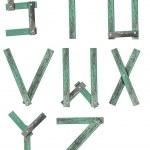 Wooden Alphabet set — Stock Photo
