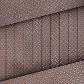 Diamond plate metal box — Stock Photo