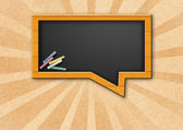 Chalkboard think bubble — Stock Photo