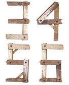 Wooden Alphabet numbe — Stock Photo