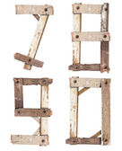 Wooden Alphabet number — Stock Photo