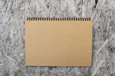 Recycled paper notebook — Stock Photo