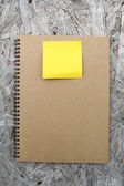 Recycled paper and notebook — Stock Photo