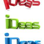 "Word "" Idea"" - 3d render — Stock Photo #37084779"