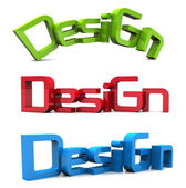 3d design text — Stock Photo