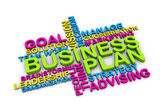 3d Business plan and other related words — Stock Photo