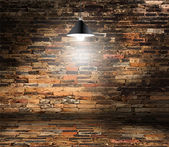 Vector brick wall room — Vector de stock