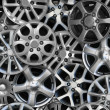 Stock Photo: Steel alloy car disks
