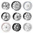 Collection Car Wheel disks — Stock Photo
