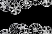 Car alloy wheel background template design — Stock Photo