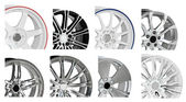 Steel alloy car disks isolated on white background — Stock Photo