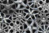 Steel alloy car disks — Stock Photo