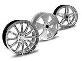 Car alloy rim on white background — Stock Photo
