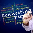Connecting people concept — Stock Photo