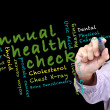 Stock Photo: Annual health check concept