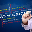 Admissions of Faculty in University — Stock Photo #41898019