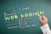 Web design teaching — Stock Photo
