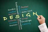 Design teaching — Stock Photo