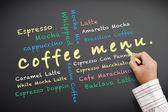 Kaffee-menü — Stockfoto