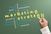 Marketing stratedy — Stock Photo