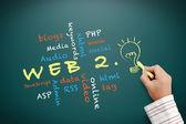 Web 2.0 concept — Stock Photo