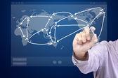 Soziales netzwerk-system — Stockfoto